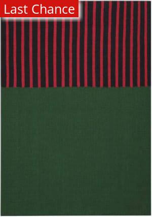 Rugstudio Sample Sale 193672R Hunter Green - Magenta - Black Area Rug