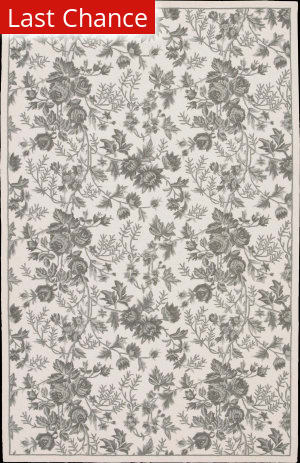 Rugstudio Sample Sale 45124R Ivory Green Area Rug