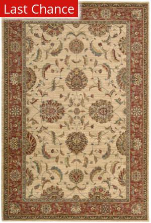 Rugstudio Sample Sale 23228R Ivory-Red Area Rug