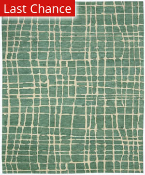 Rugstudio Sample Sale 125018R Turquoise Green Area Rug
