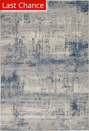 Rugstudio Sample Sale 205603R Ivory - Blue Area Rug
