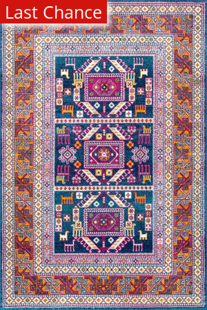 Nuloom Tribal Marisela Navy Area Rug