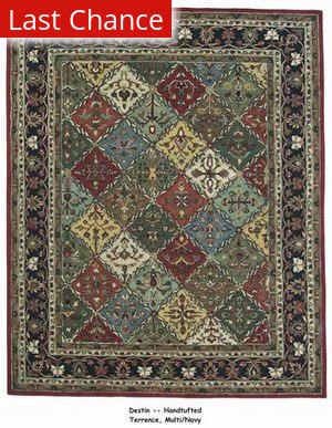 ORG Destin Terrence Multi/Navy Area Rug