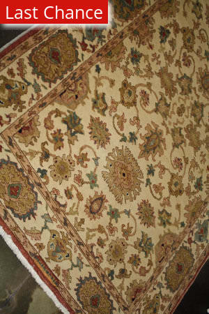 ORG Antique Repro Sultanabad Ivory Area Rug
