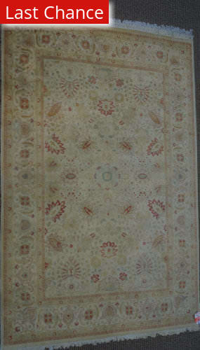 ORG 16/18 Antiqued V-1643 Ivory - Rust Area Rug