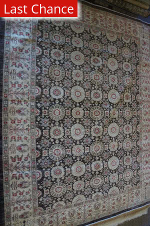 ORG Peshawar Ult-402 Brown And Beige Area Rug