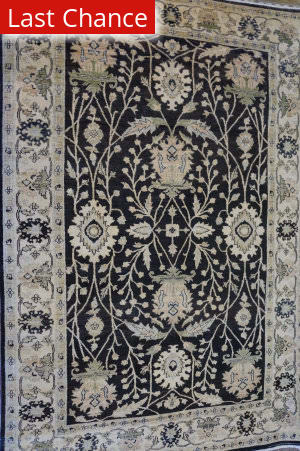 ORG Peshawar Ult-100 Black And Beige Area Rug