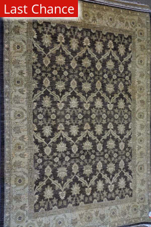 ORG Peshawar Ult-909 Brown - Green Area Rug