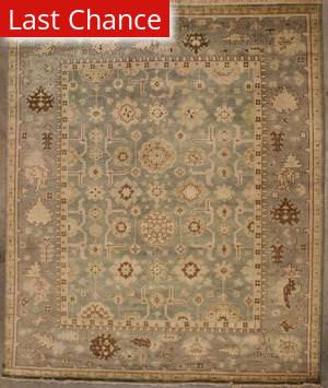 Org Indo-Oushak Dos-132 Gray-Blue Area Rug