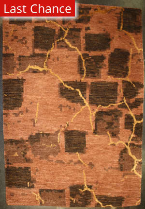 ORG Premium Tibetan Crack Wall D Sam 3144 Ook Earthtones Area Rug