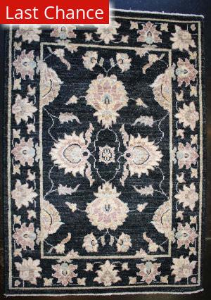 ORG Peshawar Floral Black Area Rug