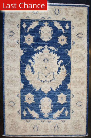 ORG Peshawar Floral Blues Area Rug
