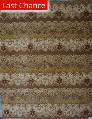 ORG Ginza Ikat Brown Beige Area Rug