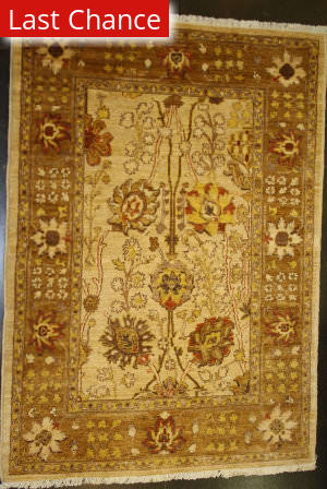 ORG Peshawar P101a Ivory - Gold Area Rug