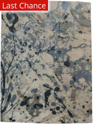 Org Expressions Ce2086b Beige-Blue Area Rug