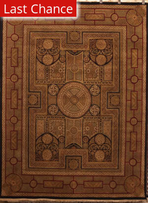 ORG Persian Classics GC74 Black Red Area Rug