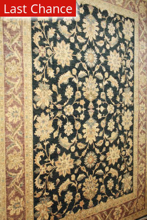 ORG Peshawar Ult-138 Black And Brown Area Rug