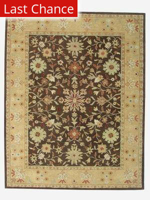 ORG Peshawar Tufted HT-630 Coffee-Light Gold Area Rug