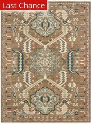 Rugstudio Sample Sale 189529R Rust - Teal Area Rug