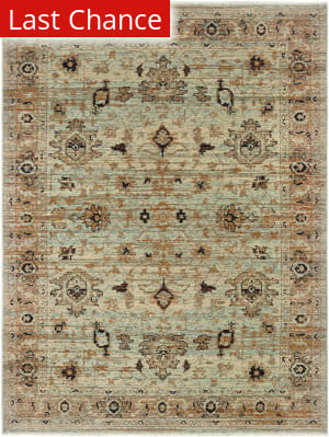 Rugstudio Sample Sale 189535R Blue - Gold Area Rug