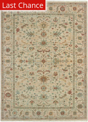 Rugstudio Sample Sale 189526R Sand - Rust Area Rug