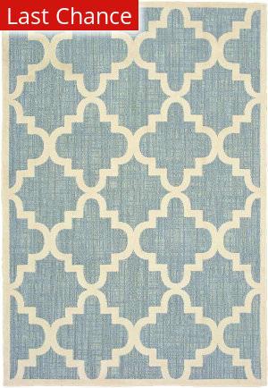 Rugstudio Sample Sale 189549R Blue - Ivory Area Rug