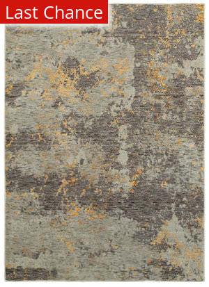 Rugstudio Sample Sale 167473R Grey - Gold Area Rug