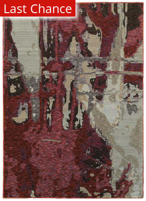 Rugstudio Sample Sale 167475R Red - Beige Area Rug