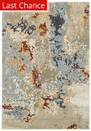 Rugstudio Sample Sale 167482R Beige - Blue Area Rug