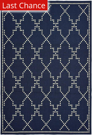 Rugstudio Sample Sale 189612R Navy - Ivory Area Rug