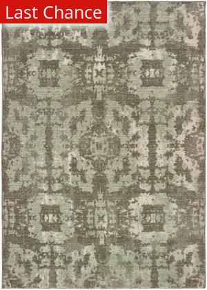 Rugstudio Sample Sale 189618R Grey - Green Area Rug