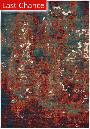 Rugstudio Sample Sale 189619R Blue - Red Area Rug