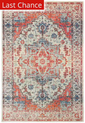Rugstudio Sample Sale 189629R Blue - Orange Area Rug