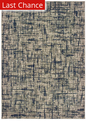 Rugstudio Sample Sale 189655R Grey - Navy Area Rug