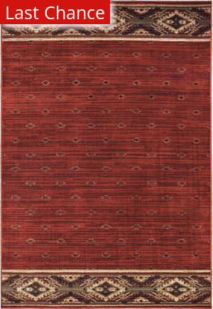 Rugstudio Sample Sale 195411R Red - Gold Area Rug