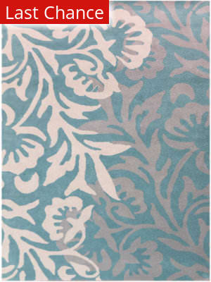 Rugstudio Sample Sale 185394R Teal Area Rug