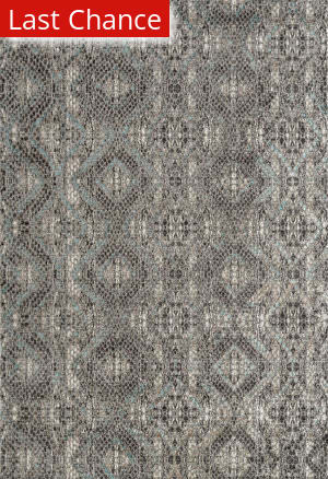 Rugstudio Sample Sale 185415R Aqua Blue Area Rug