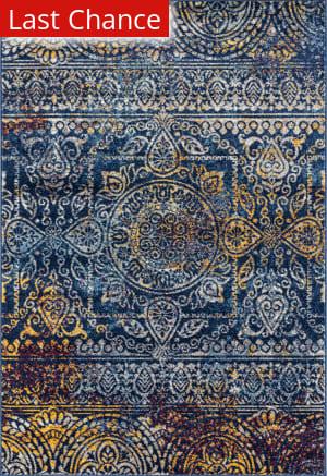 Ramerian Manda 4200-MAN Teal - Blue Area Rug
