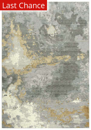 Rugstudio Sample Sale 196540R Gray - Ivory Beige Area Rug