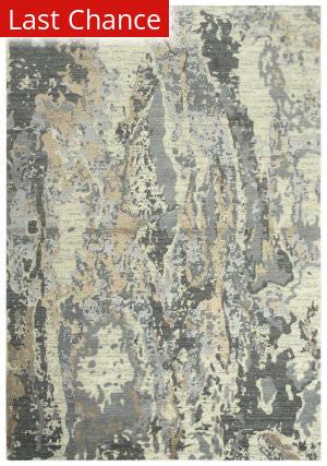 Rugstudio Sample Sale 196542R Beige - Ivory Gray Area Rug