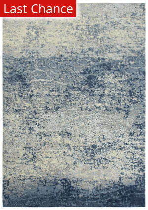 Rugstudio Sample Sale 196547R Blue - Ivory Gray Area Rug