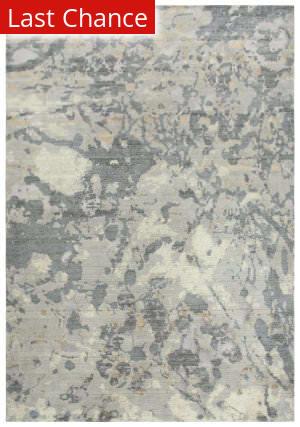 Rugstudio Sample Sale 196555R Gray - Ivory Beige Area Rug
