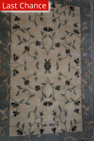 Rugstudio Sample Sale Clf-01 Beige - Green Area Rug