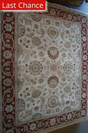 Rugstudio Sample Sale Jb-935 Ivory - Burgundy Area Rug
