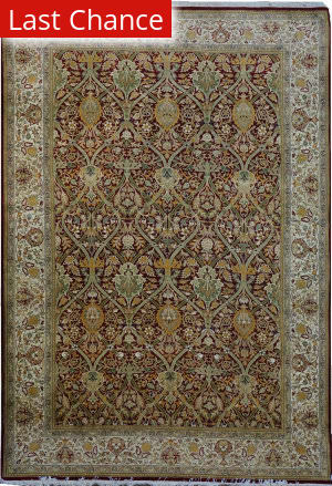Rugstudio Sample Sale Wm.morris Red - Ivory Area Rug