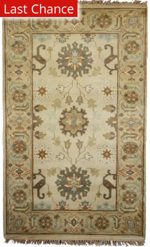 Rugstudio Sample Sale M-01 Beige Area Rug
