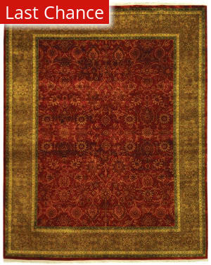 Rugstudio Sample Sale 423a Rust - Green Area Rug