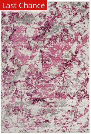 Rugstudio Sample Sale Sky186n Pink - Ivory Area Rug