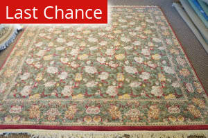 Rugstudio Sample Sale Floral Green Area Rug