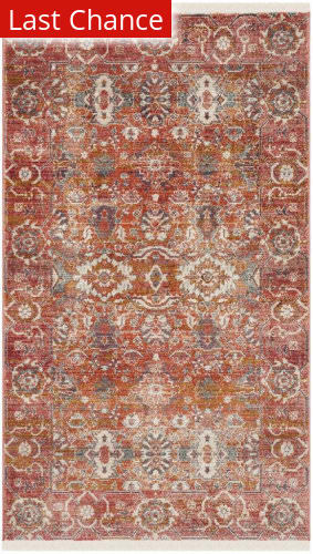 Rugstudio Sample Sale Vtp471q Red - Orange Area Rug